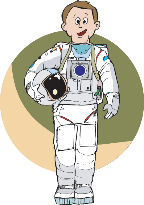 svg royalty free library Astronaut clipart space scientist. Astronauts resources science trek