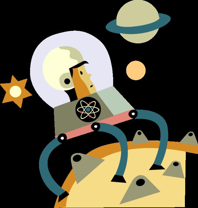 jpg free stock Astronaut Explores Planet Surface