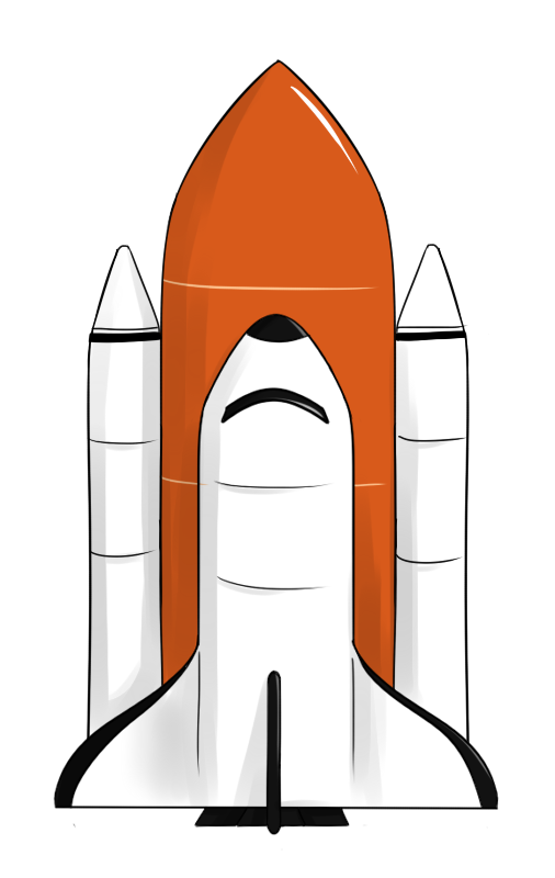 banner library stock Image of space shuttle. Astronomy clipart.