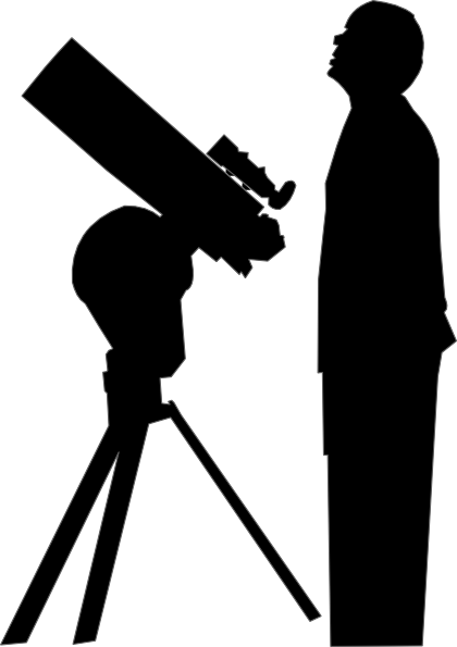 jpg black and white stock Amateur astronomer clip art. Astronomy clipart.