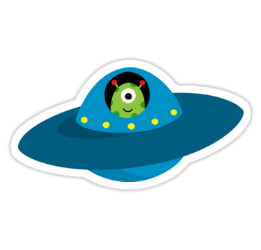 png stock Astronomy clipart flying saucers. Cute alien in saucer.
