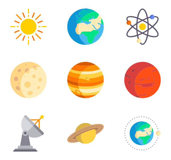 png royalty free Space svg. Astronomy icons free vector