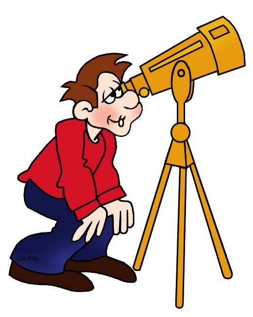 vector transparent library Outer space clip art. Looking clipart telescope.