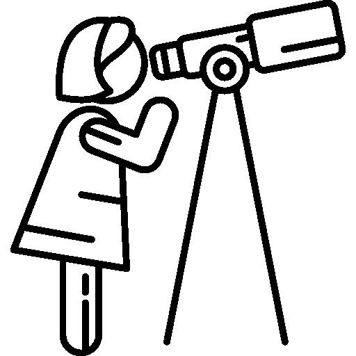 svg transparent stock Astronomer Woman