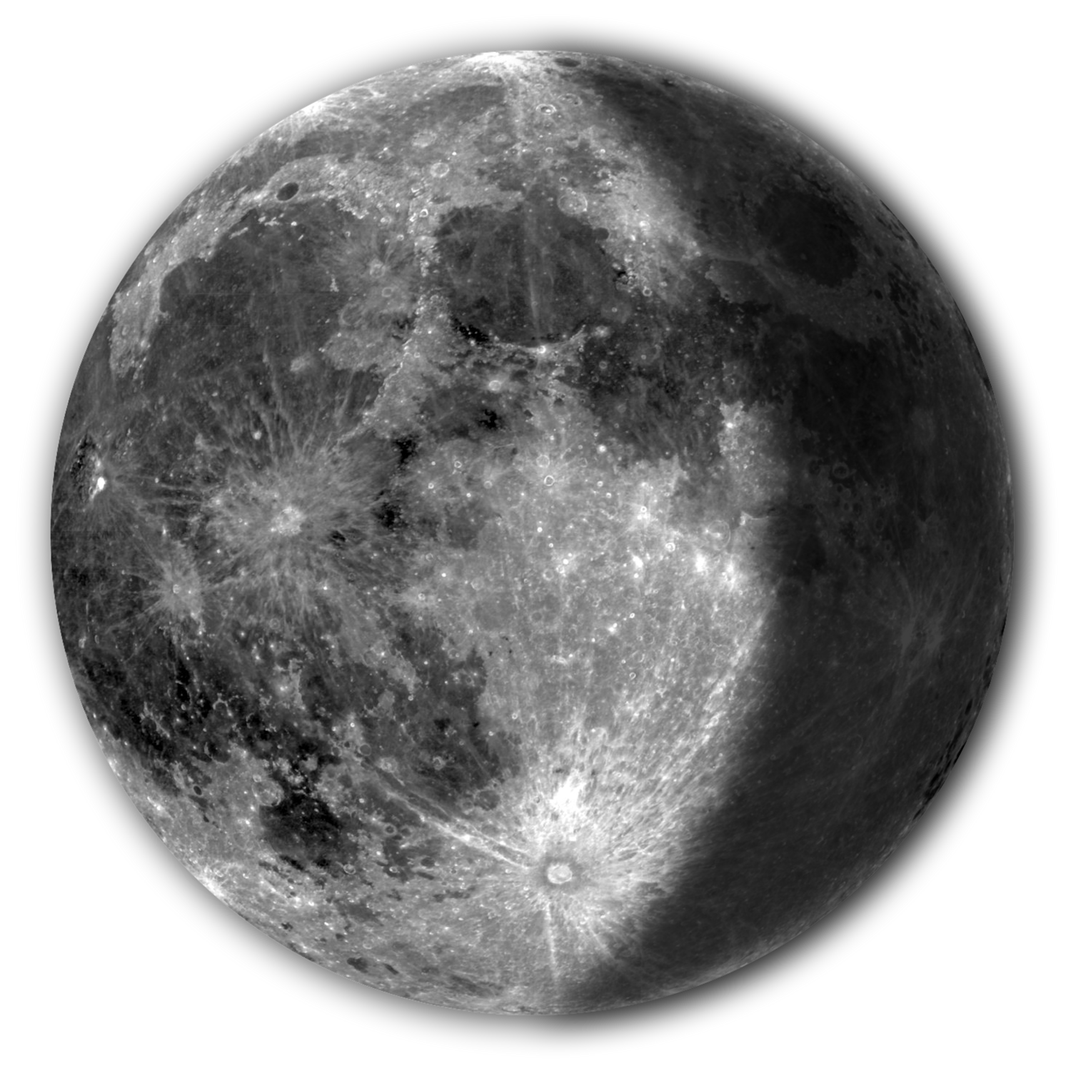 vector royalty free Waning Gibbous