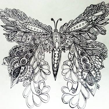 vector library Butterfly by pamela starr. Asymmetrical drawing