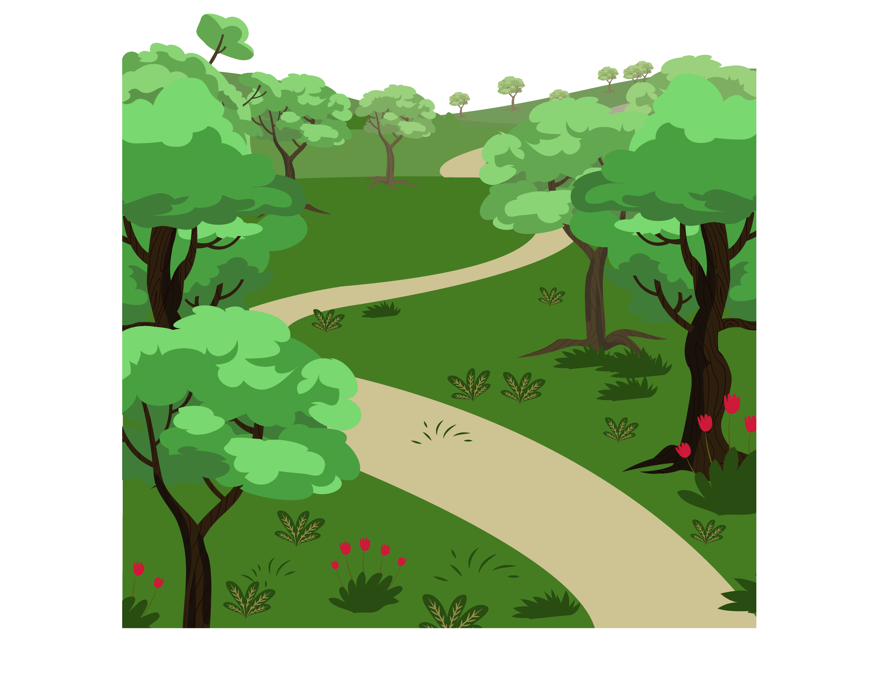 graphic free download Drawing Landscape painting Cartoon