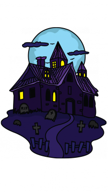 clip black and white download How to Draw a Haunted House for Kids