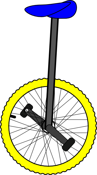 banner transparent Unicycle drawing easy. Color clip art clipart