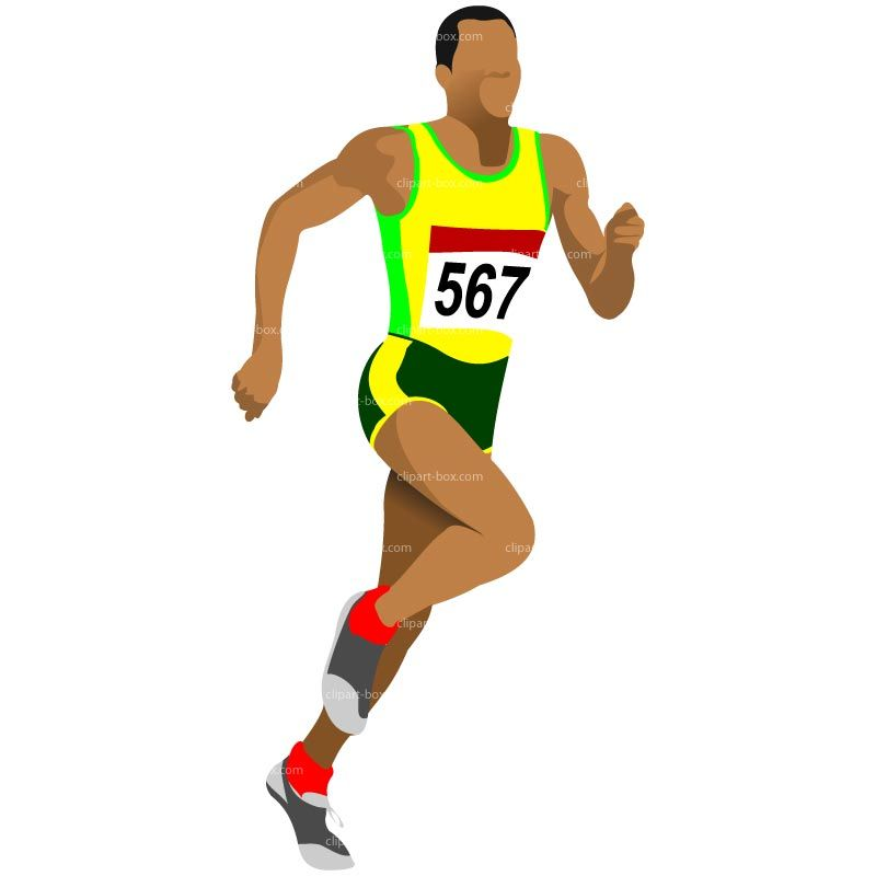 svg royalty free stock Athlete clipart. Running athlet royalty .