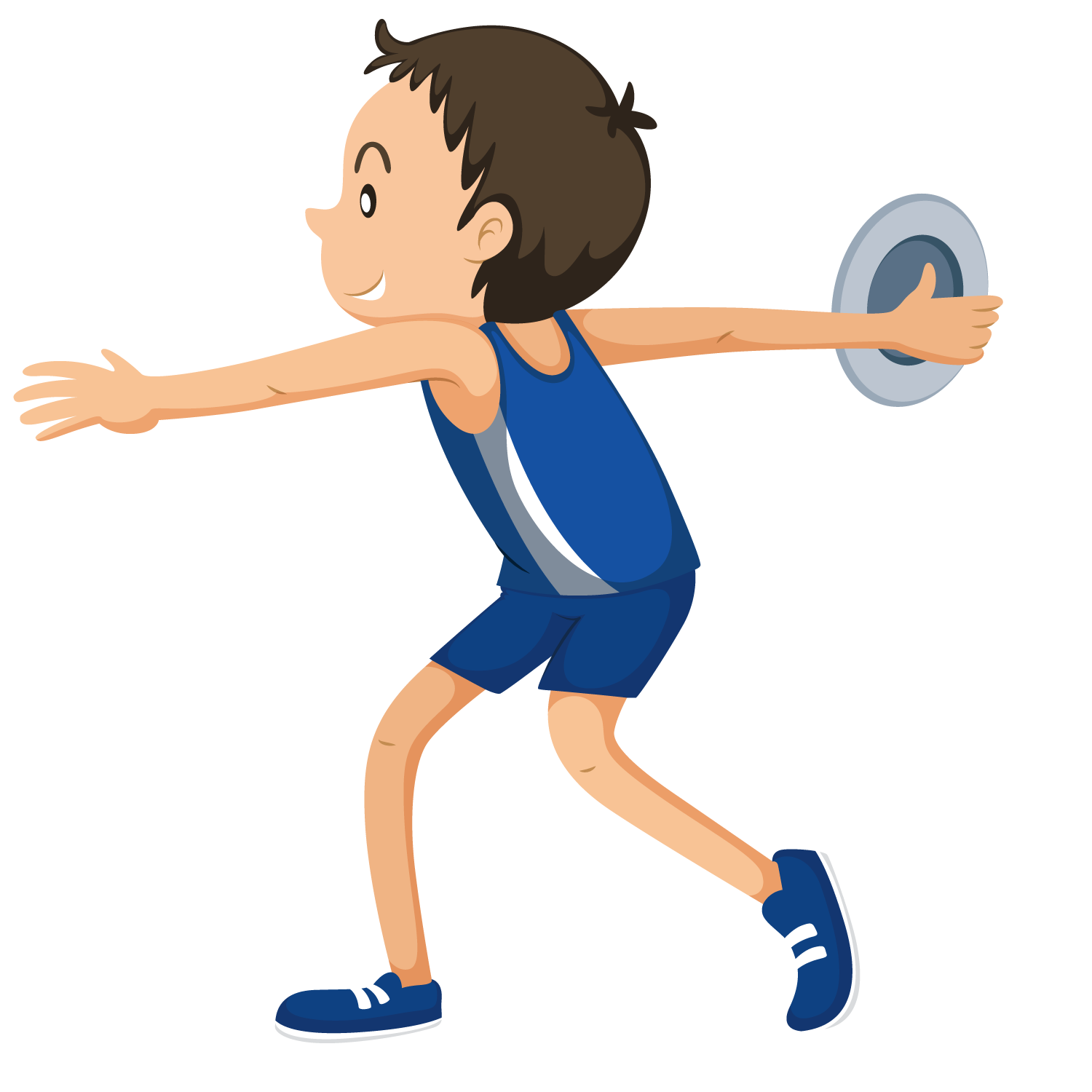 clipart royalty free download Athlete clipart. Discus throw sport clip.