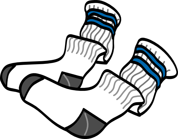 vector royalty free Athletic Crew Socks Clip Art at Clker