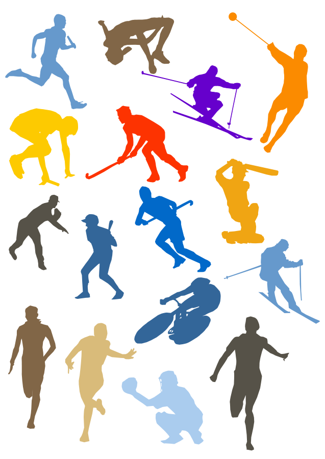 free library  collection of sports. Athletic clipart annual sport meet