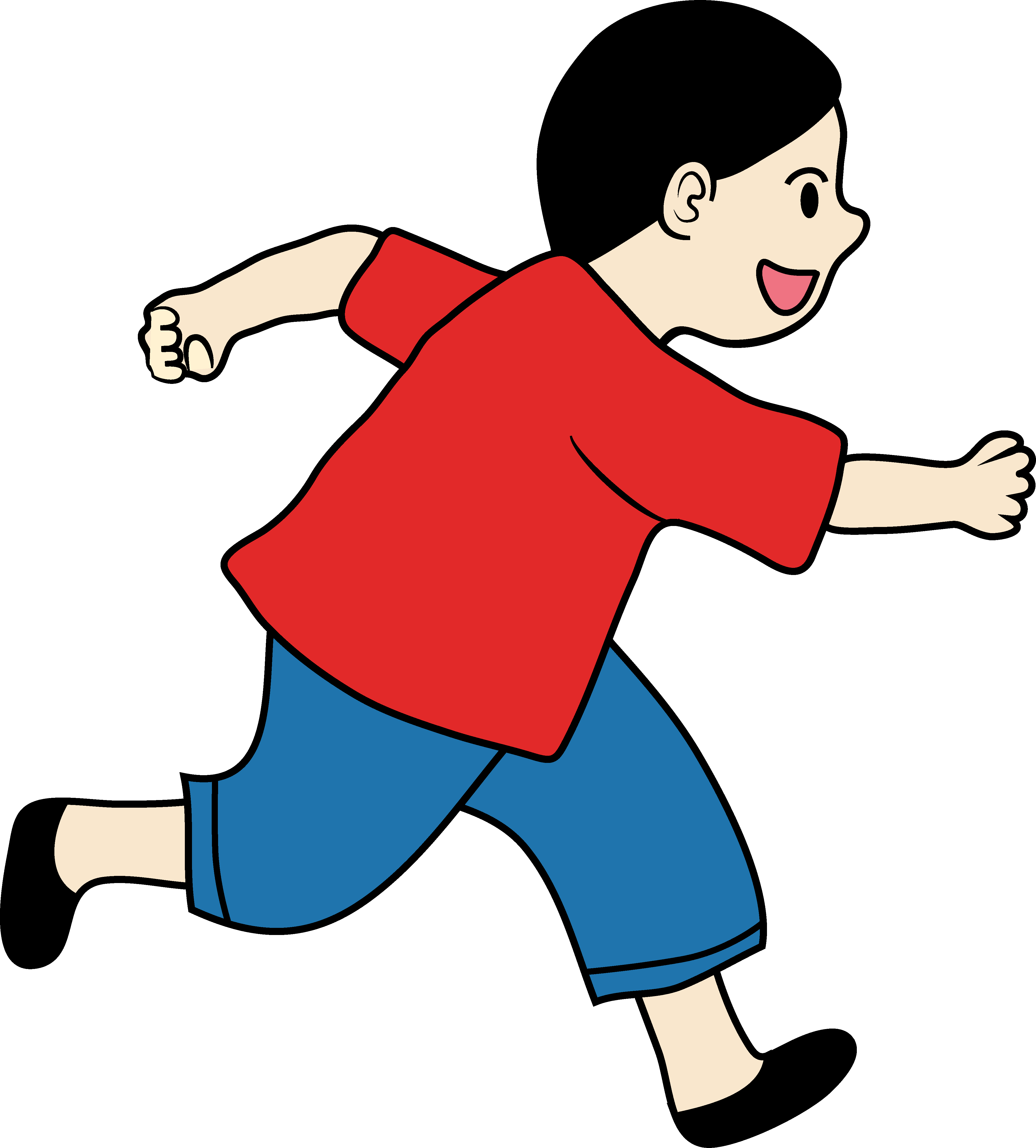 banner free download Kid running clipart. Children at getdrawings com