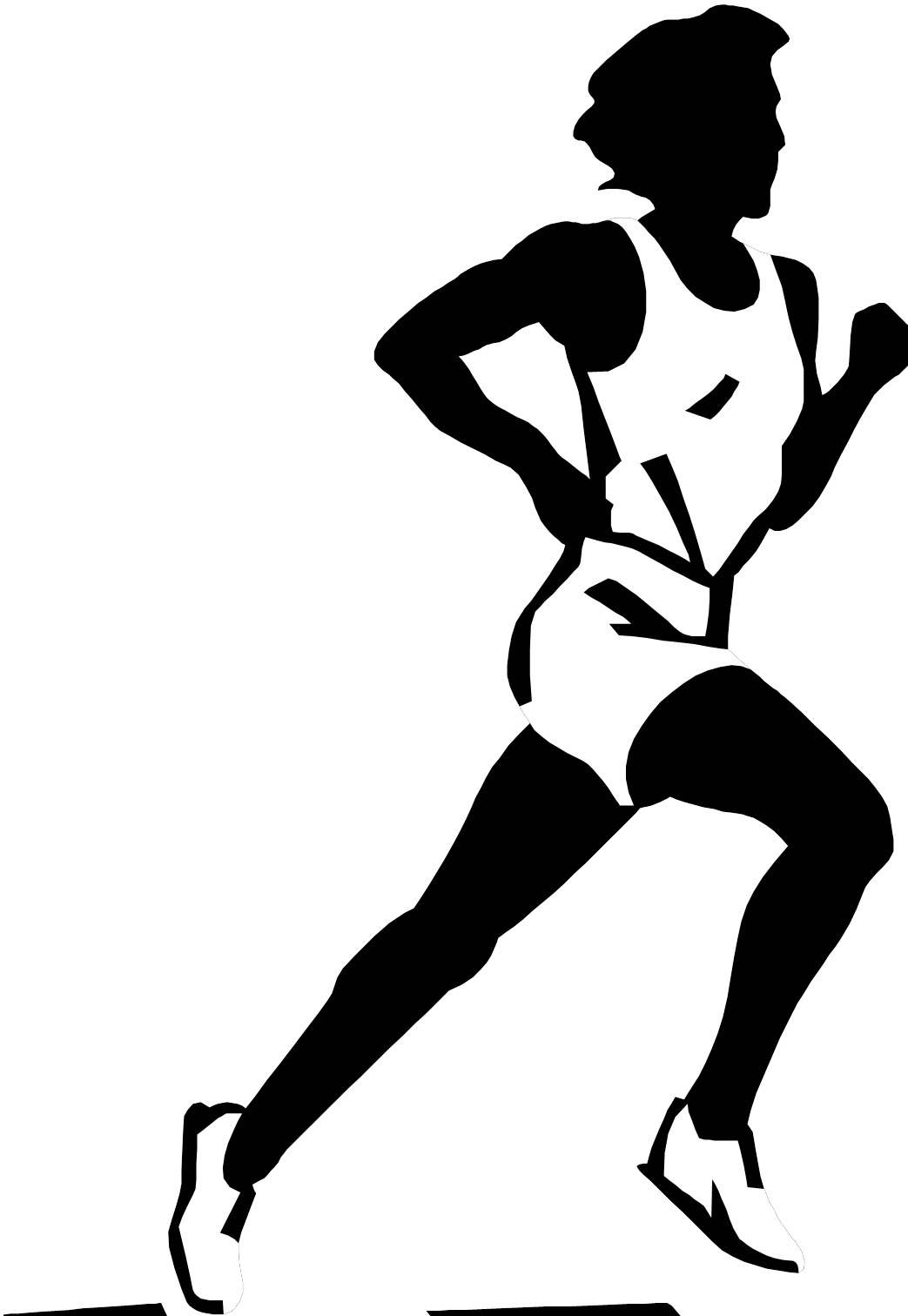 vector black and white Images for running black. Cross country arrow clipart.