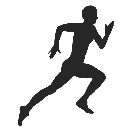 vector free Athlete running hard