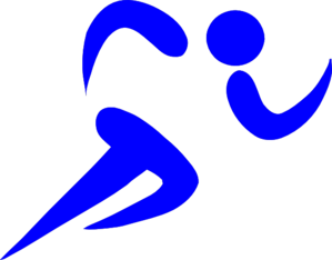 svg free library Blue Athlete Clip Art at Clker