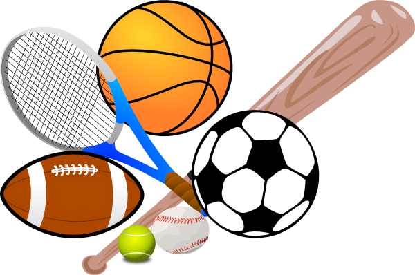 jpg black and white download Athletic clipart different sport. Lc summer sports camps.