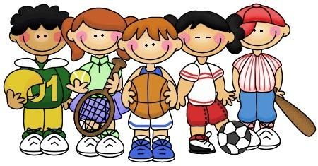image black and white stock Athletic clipart school sport. Kids playing sports clipartsgram.