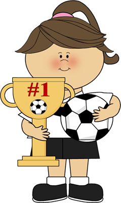 banner library library Athletic clipart soccer trophy. Girl with clip art.
