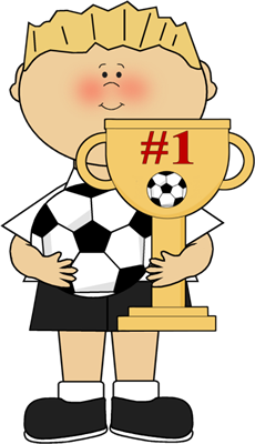 transparent stock Boy with clip art. Athletic clipart soccer trophy.