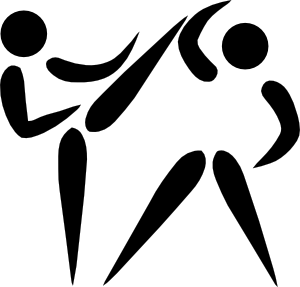 vector Athletic clipart sport symbol. Olympic sports taekwondo pictogram