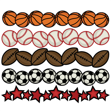 svg black and white library Sports borders svg cutting. Background clipart sport.