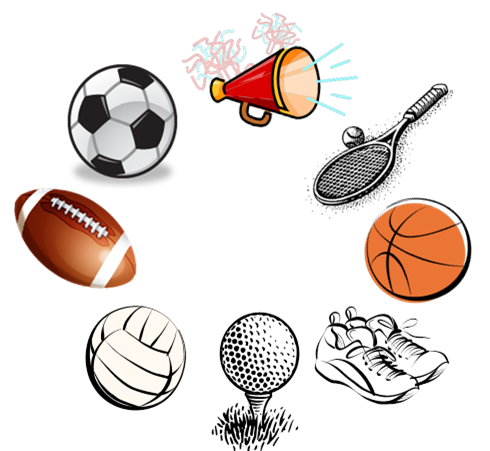 png black and white library Sports Equipment Clipart girl sport