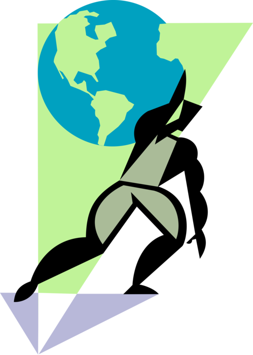 clipart library Carrying Weight of World on Shoulders