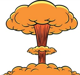 clip art freeuse library Free atomic . Atom bomb clipart.