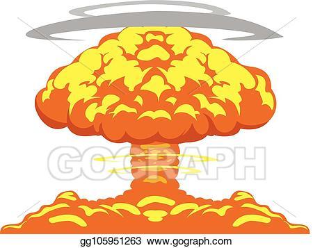 clipart royalty free stock Eps illustration atomic explosion. Atom bomb clipart.