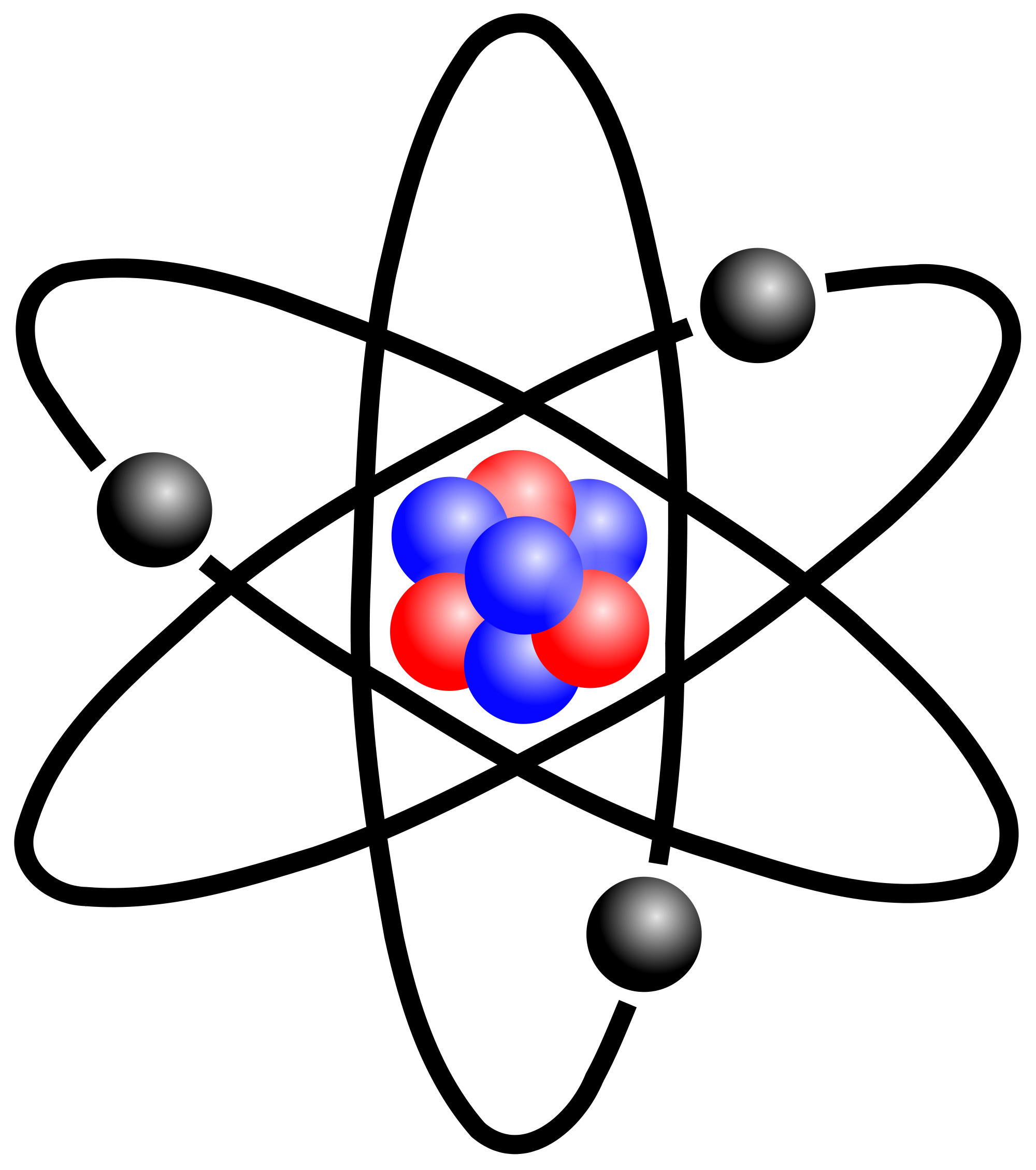 vector library stock physics clipart atomic model #81864156