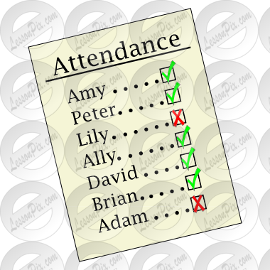 clip art download Attendance clipart. Picture for classroom therapy.