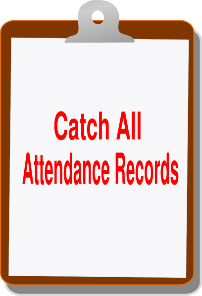 image stock Attendance clipart. Catch all clip art.