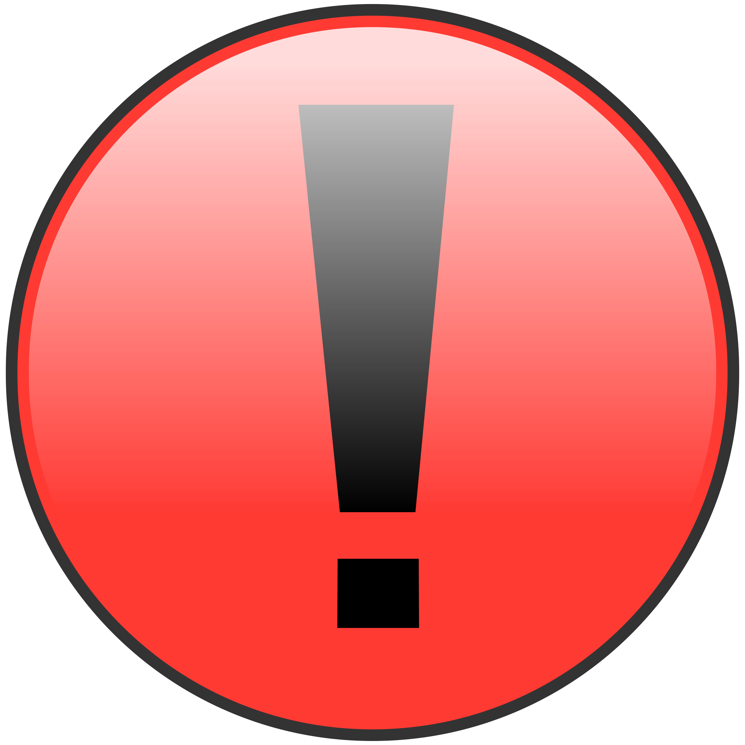 jpg free library Attention clipart red. Big image png.