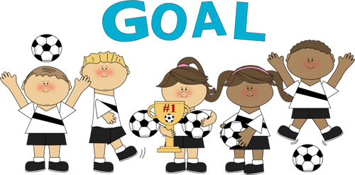 graphic stock Goal clipart indoor soccer. Cartoon players in action