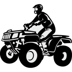 picture black and white download Free silhouette cliparts download. Atv clipart.