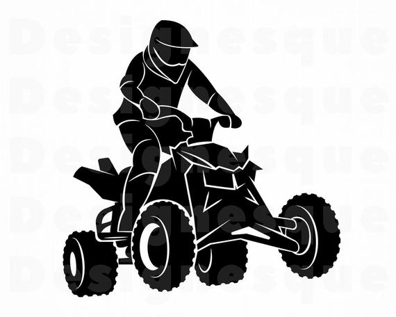 jpg free Svg wheeler motocross files. Atv clipart.