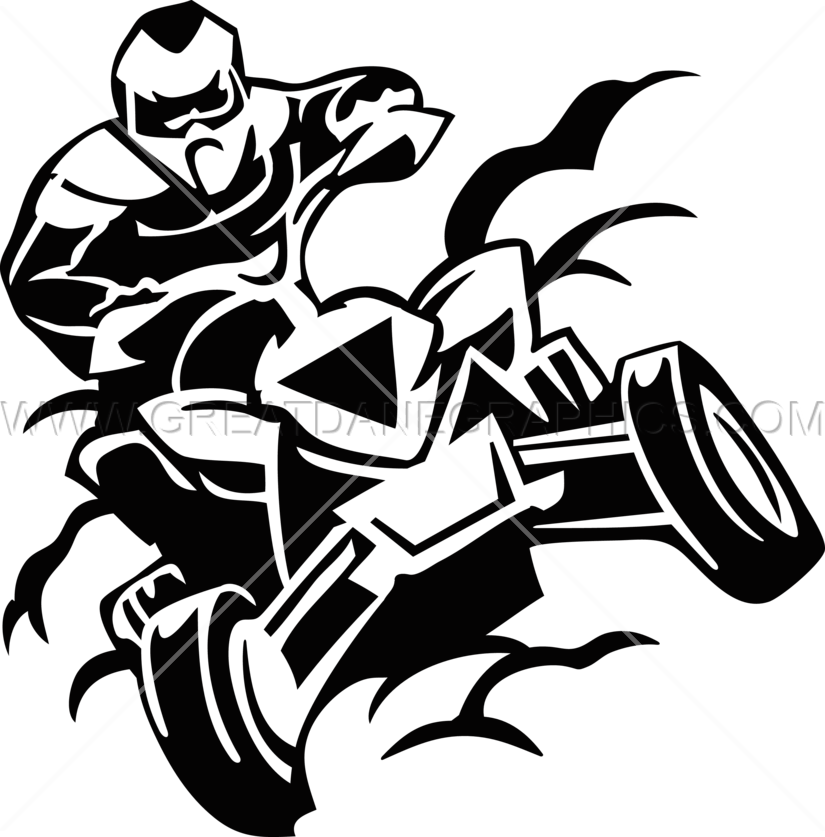 svg black and white stock Drawing at getdrawings com. Atv clipart.