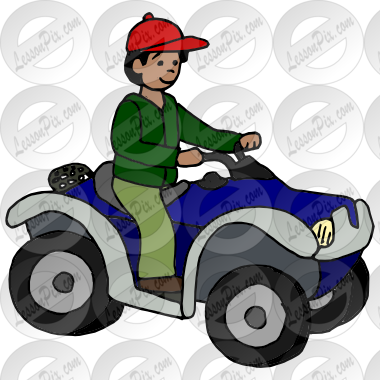 png black and white library Atv clipart. Picture for classroom therapy.
