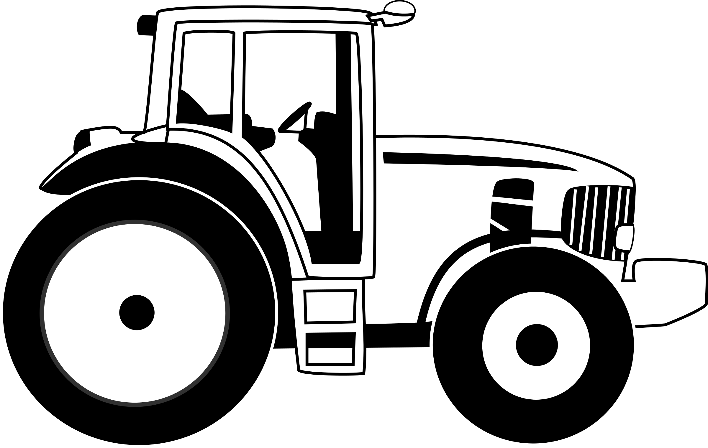 svg freeuse library free black and white tractor clipart