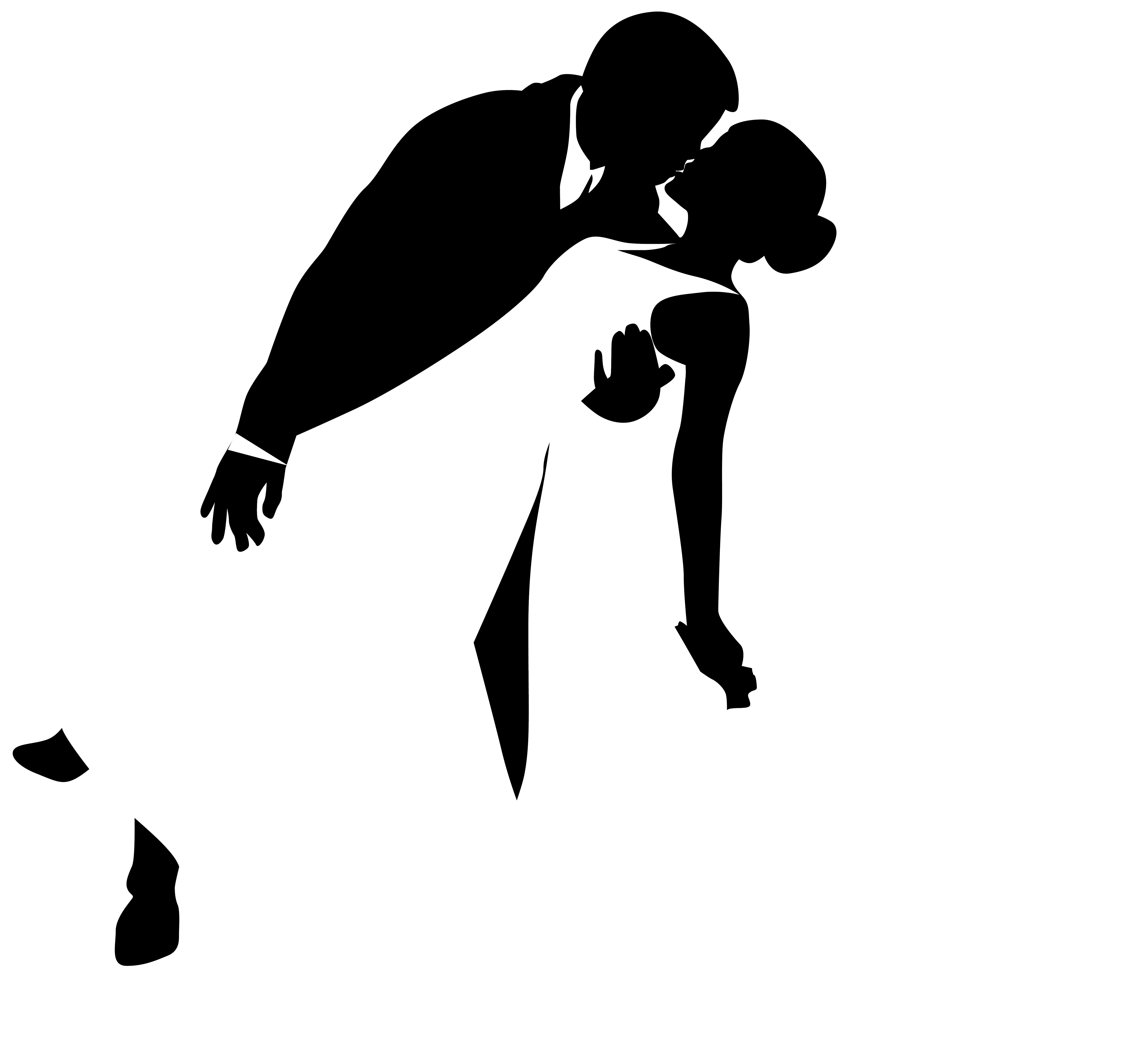 vector royalty free stock Black And White Silhouette Art at GetDrawings