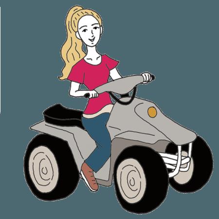 clip free stock Dream dictionary interpret now. Atv clipart wheeling.