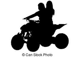 clipart library Atv clipart wheeling. Girls on vector drawing.