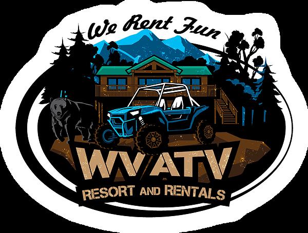 banner royalty free Atv clipart wheeling. Rentals in west virginia.