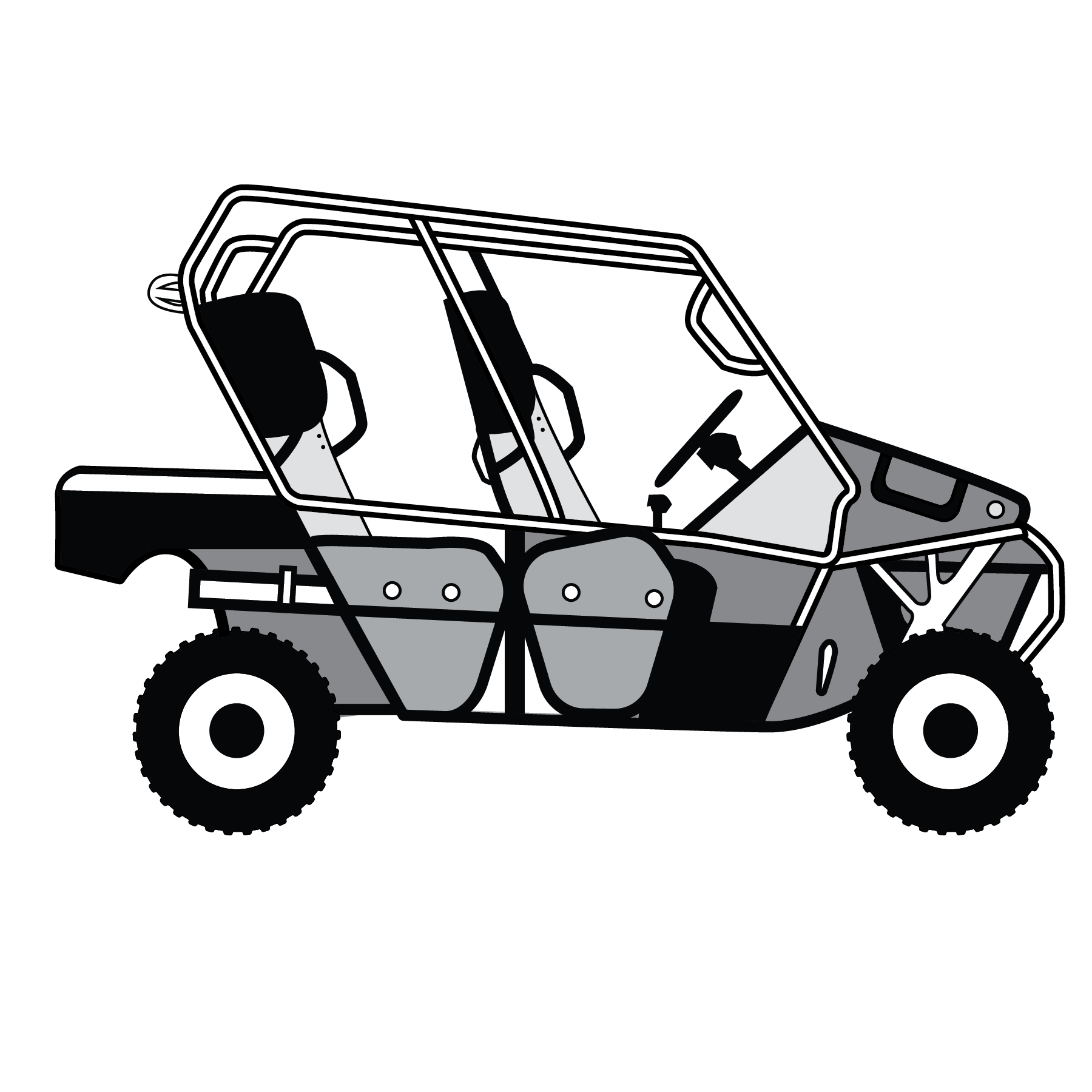 clip black and white download Types of off highway. Atv clipart wheeling.