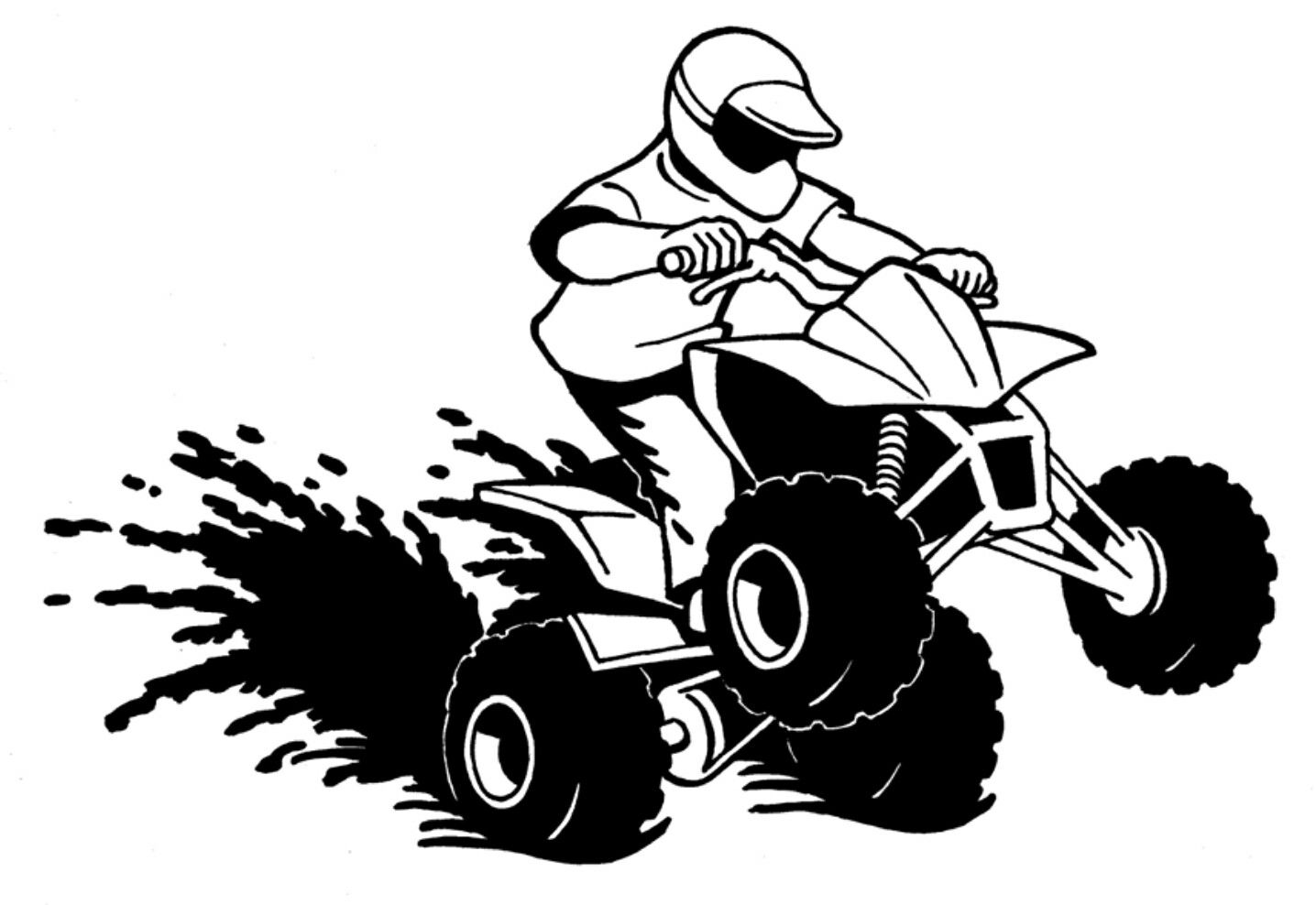 clipart freeuse library Pin by ashley coggins. Atv clipart wheeling.