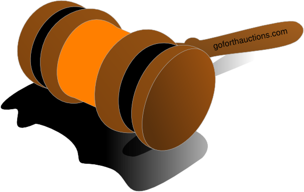 vector freeuse library Auction Gavel Color Orange Clip Art at Clker