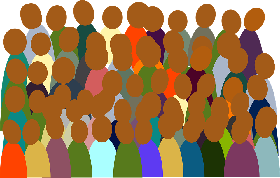 clip black and white Crowded room free on. Audience clipart