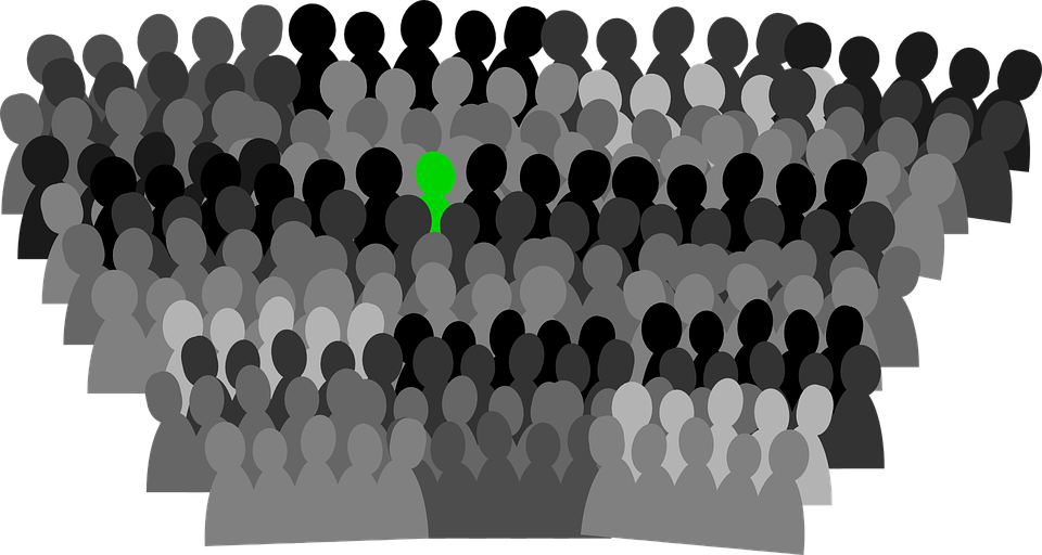 png black and white Crowd Clipart audience